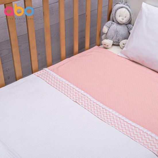 Πικέ Κουβέρτα Carot ροζ 100 x 150 ABO