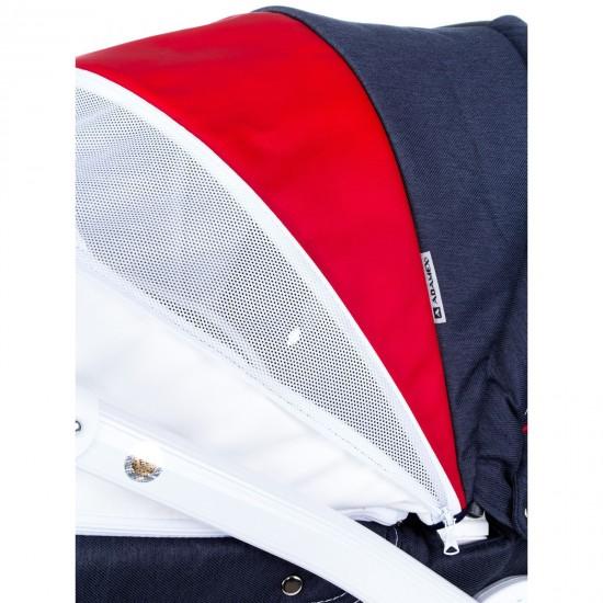 Πολυκαρότσι Adamex Barletta New Blue,red,white 3in1