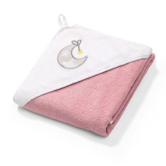 Πετσέτα με κουκούλα 76x76 Ροζ Babyono