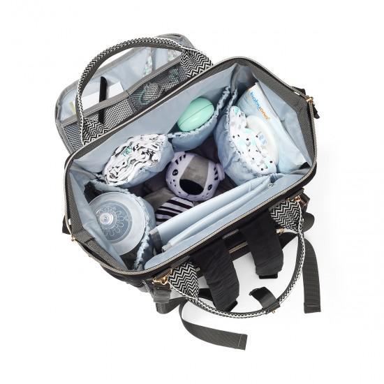 Babyono τσάντα αλλαξιέρα Oslo Style μαύρη