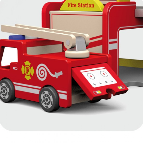 Viga Πυροσβεστικός σταθμός ξύλινος πλήρης
