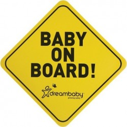 Baby on board sign yellow black DreamBaby