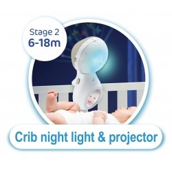 Infantino Μουσικό mobille 3 in 1 Projector musical mobille blue