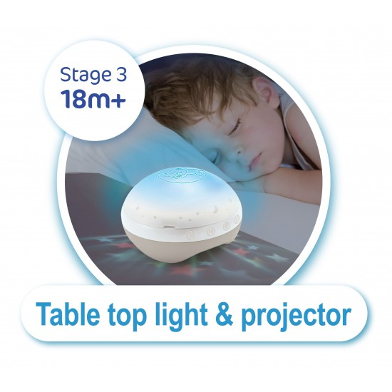Infantino Μουσικό mobille 3 in 1 Projector musical mobille Ecru