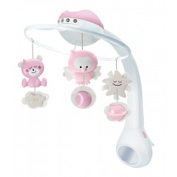 Infantino Μουσικό mobille 3 in 1 Projector musical mobille Pink