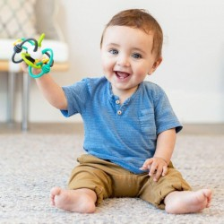Κουδουνίστρα Shake & teethe flexible rattle ball Infantino