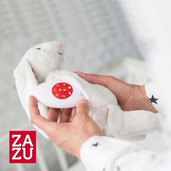 Zazu BIBI Λαγουδάκι νανουρίσματος με χτύπο καρδιάς και λευκούς ήχους