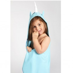 Little Champions πόντσο πετσέτα Microfiber Blue unicorn