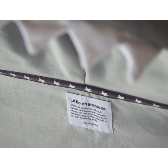 Little Champions πόντσο πετσέτα Microfiber Grey shark