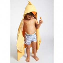 Little Champions πόντσο πετσέτα Microfiber Yellow chick